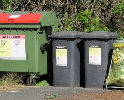 Image of garbage containers and