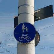 pedestrians and bikes